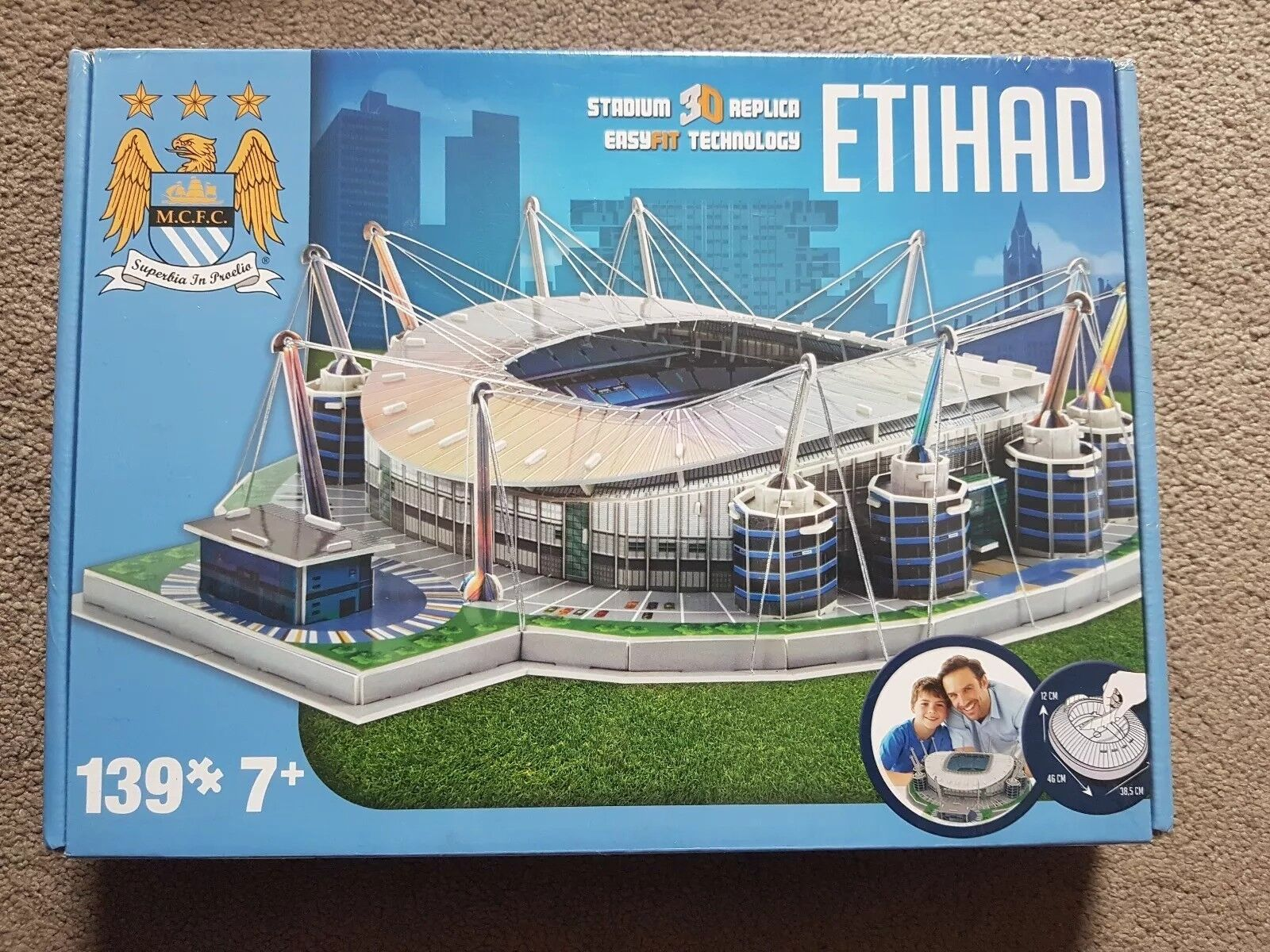 Brand New Official Product Manchester City Etihad Stadium 3D Puzzle FREE P&P