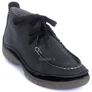 Hp Stiefelette Black Hochfront Hush Puppies 36 Boots Neu Schwarz Schnür Leder PqpRZn