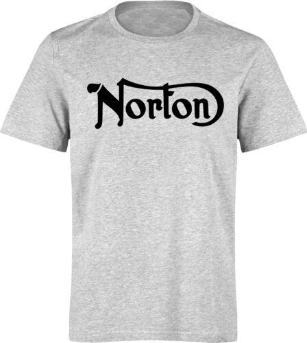 M T-shirt marqué NORTON L S moto anglaise XL vintage NEUF motard biker