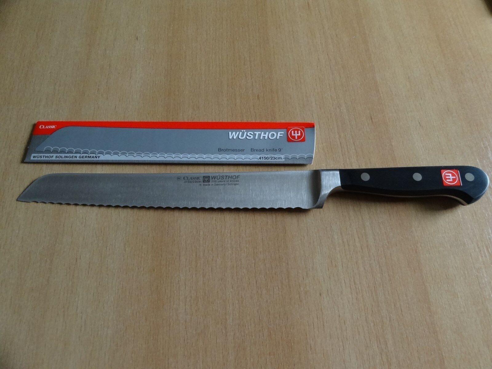 COLTELLO pane Classic wüsthof tridente fabbrica lame lunghezza 23cm 4150 23 BREAD KNIFE