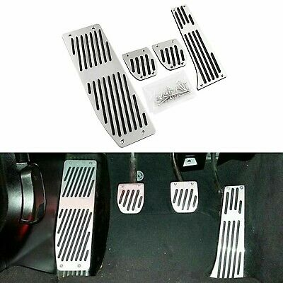 M Performance Style Silver Alloy Pedal Covers For BMW X1 E30 E36 E39 E46 E90 E87