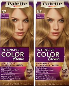 2 X Schwarzkopf Palette Color Creme N7 LIGHT BLONDE Hair Dye  Mask  EBay