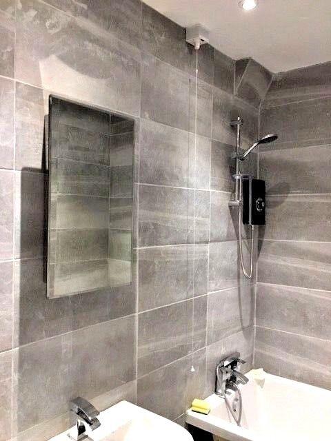 large grey matt finish bathroom wall floor tile ceramic 60 x 30 cm