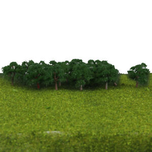 25pcs Model Trees Layout Train Railway Wargame Landscape Scenery 1:300 Scale
