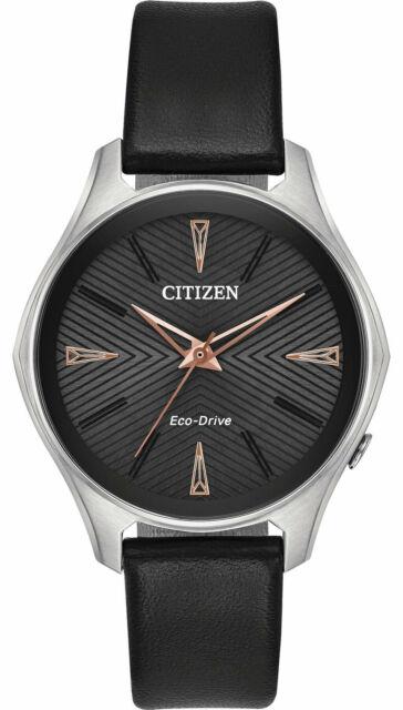 NEW Citizen Modena EM0591-01E Ladies 36mm Strap Watch MSRP $225