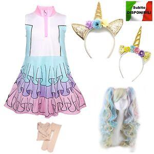 Simile-Lol-Unicorn-Vestito-Carnevale-Bambina-Tipo-Lol-Dress-Cosplay-LOLUNIC5-SD