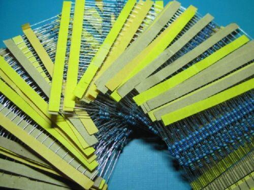 75 Value 1//4W Metal  Film Resistors 1 ohm~10M ohm 1/%  kit 1500pcs