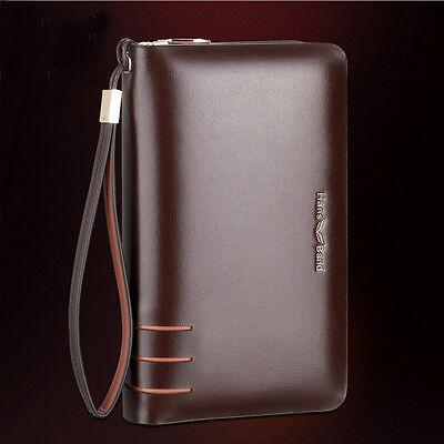 Men's Genuine Leather Business Clutch Bag Handbag briefcase Wallet Purse AR196-2