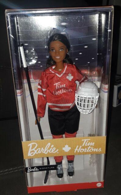 NEW 2020 Mattel Barbie Signature Tim Hortons Hockey Player Doll. Blonde.
