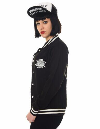 Cks dato atteggiamento Clothing Dragstrip clothing Women/'s baseball Giacca ZERO F