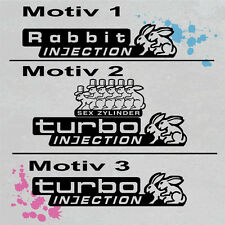 Turbo Rabbit Injection Tuning Sticker Aufkleber Fu013