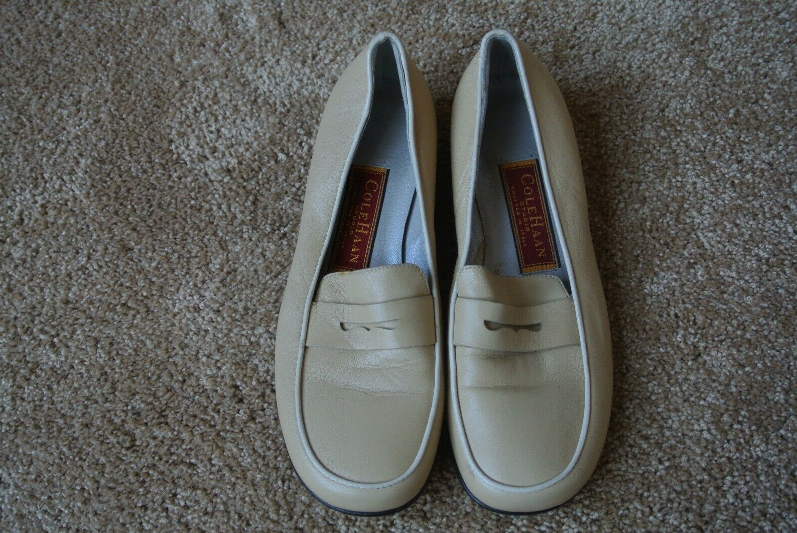 COLE HAAN ITALIAN LAMBSKIN Leather Camel Penny Loafers shoes Flats 5.5 NWOB  225