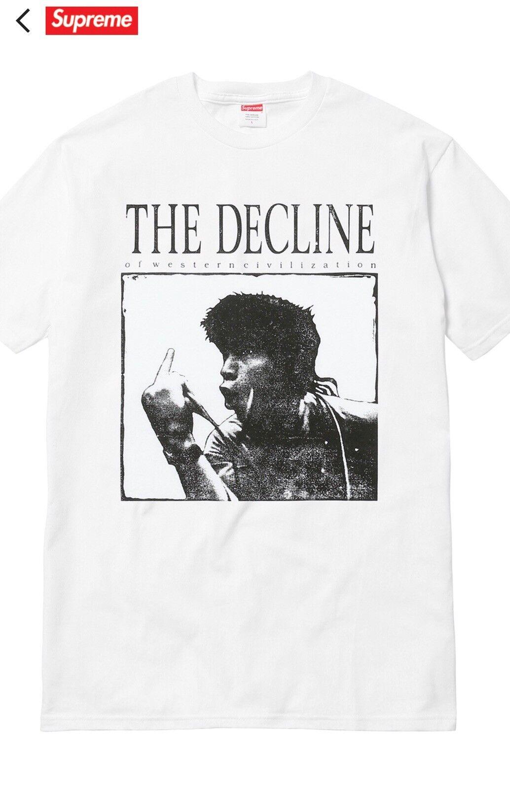 Supreme Decline Of Western Civilization T Shirt White Size XL FW17