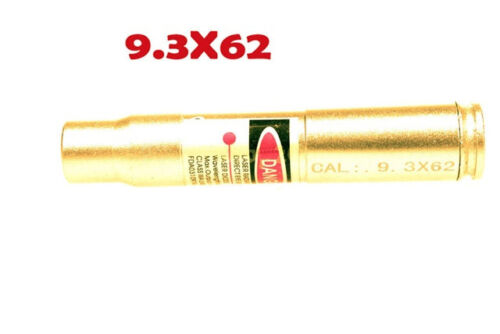 Hunting Gun CAL .9.3X62 Red Dot Laser Bore Sight Cartridge Bore Sight