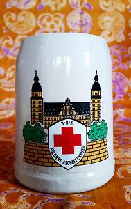 Bierkrug-Deutsches-Bayrisches-Rotes-Kreuz-Aschaffenburg-Hessen-BRK-DRK-Beer-Mug