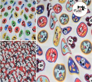 150 cm Wide High Quality Premium 100/% Cotton Quilting Craft Fabric Mouse Print