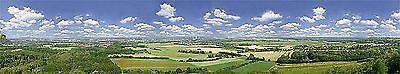 1m²=17,55€) Faller 180518 H0, TT, N,  Hintergrund Saartal, Saarland, 2700x400 mm