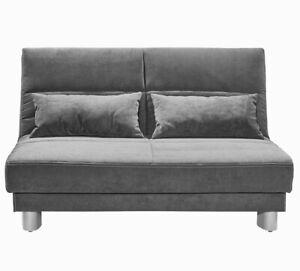 Details Zu Schlafsofa Gina Breite 140 Cm Grau Sofa Mit Schlaffunktion Microfaser Enjoy