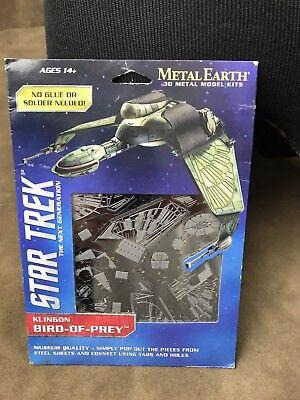 Metal Earth Star Trek Next Gen KLINGON BIRD OF PREY 3D Puzzle Micro Model