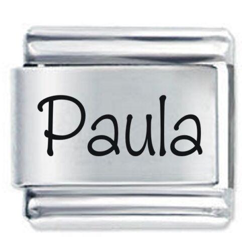 Paula Nombre-Daisy Charm se adapta tamaño clásico italiano encantos Pulsera Nomination