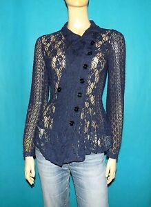 chemise-HIGH-USE-en-dentelles-bleu-taille-36-fr