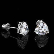 0 50ct Black Diamond Stud Earrings 14k White Gold