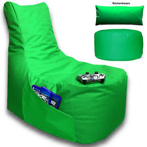 Sitzsack 3er Set Xxl Big Gamer Sessel Boden Kissen Stuhl Hocker