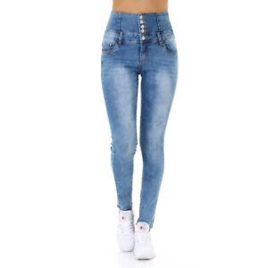 Jeans-High-Waist-Damen-Skinny-Jeans-Jeanshose