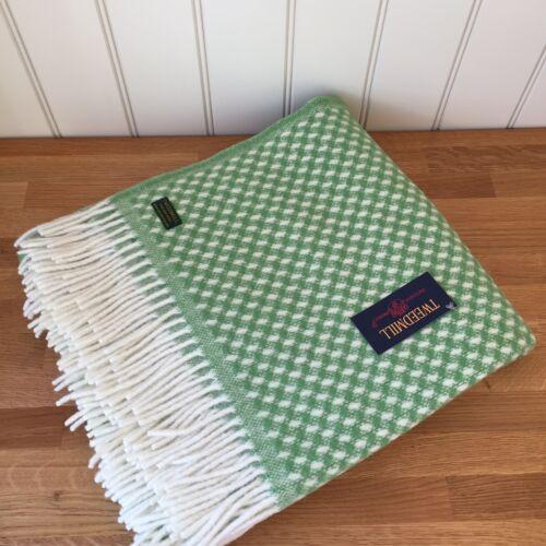 Tweedmill Wool Throw Twill Green British Blanket Rug Sofa Bed Throw Gift