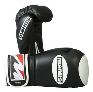 "Manus- Boxhandschuh ""Competition""10oz.black aus Leder.Wettkampf. WAKO. Kickboxen"