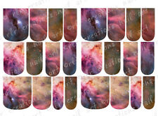 24 FULL COVER Water Slide Nail Decals * SPACE ORION NEBULA * 12 SIZES  NAIL WRAP