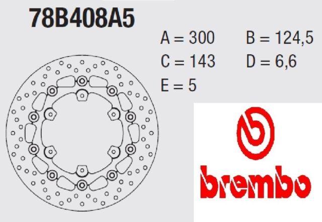 Frein à disque BREMBO série Oro ARRIÈRE KTM 990 LC8 ADVENTURE s / ABS 06 > 08