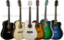 New Oscar Schmidt OD312CE 12-String Twelve Acoustic Electric Guitar Spruce Top
