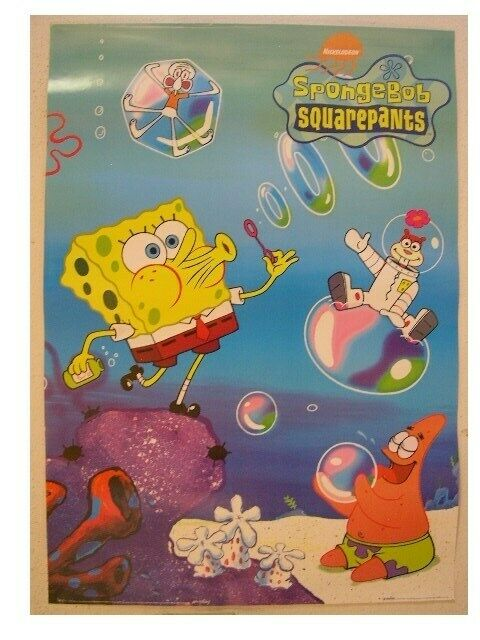 Spongebob SquarePants SquarePants SquarePants Commercial Poster Cast Bubbles Sponge Bob Square Pants 025928