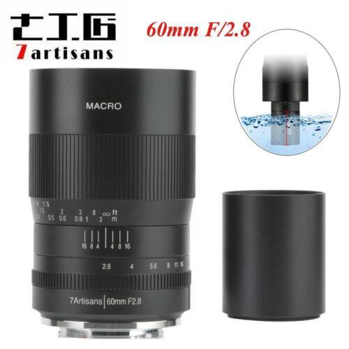 7 artesanos 60mm f//2.8 1:1 Macro Lente para Sony E Monte APS-NEX A6500 A6400 A6300 C