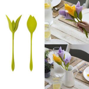 Lebensecht-Bluete-Serviettenhalter-fuer-Tabelle-Twist-Blume-Serviettenhalter-Neu