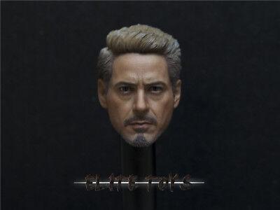 "F 12/"" Male Figure 1//6 Avengers 3 Iron Man Tony Stark Head Carving Normal Ver"