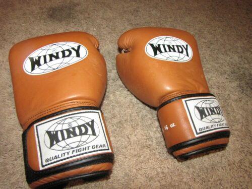 *WINDY* BGVH Boxing Gloves Brown 16oz