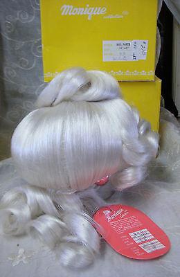 """MONIQUE Doll Wig """"MRS. SANTA CLAUS"""" Size 12-13 - Color WHITE"""