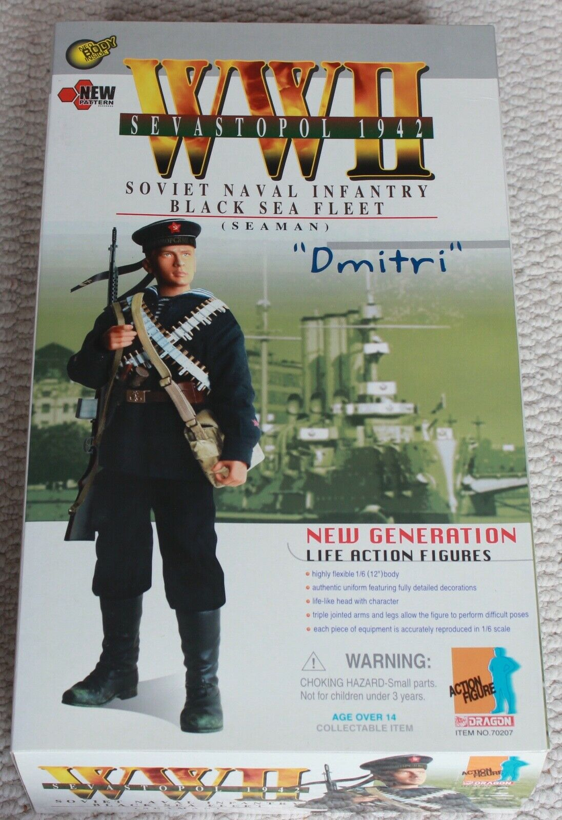 Dragon action figure ww11 russian dmitri 1 6 12'' boxed 70207 did cyber hobby