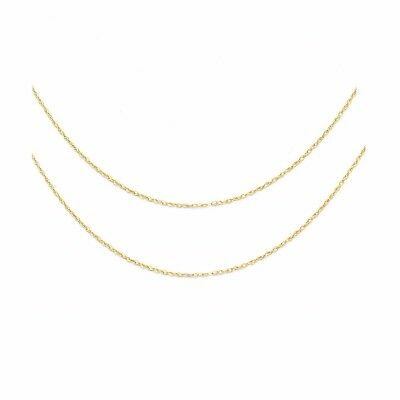 """14K Twisted Rope Chain Solid Yellow White Rose Gold Singapore Necklace 13/""""-22/"""""""