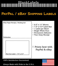 200 Laser Ink Jet Labels Paypal With Tear Off Receipt Perfect For Ebay Postage