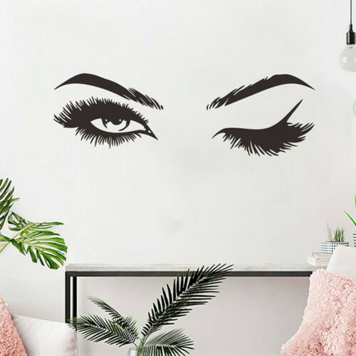 Wall Art Sticker Eye Lashes Extensions Beauty Salon Eyebrows Wall Decor Decal