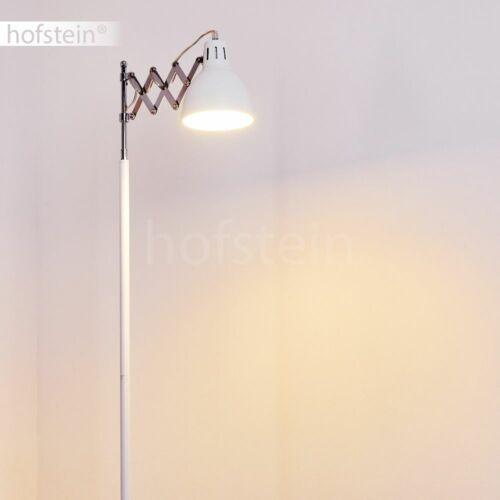 weiße Schlaf Wohn Zimmer Leuchten verstellbar Retro Stand Steh Lese Boden Lampen