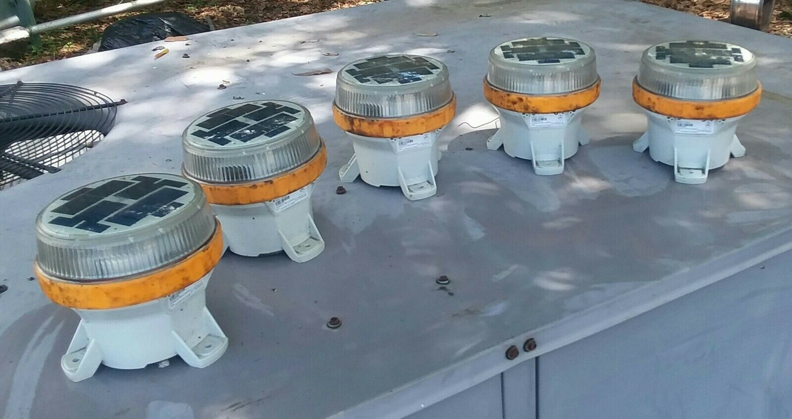 LOT OF 5 Carmanah M650 Gelb Solar LED Marine Navigational Lights w o BATTERIES