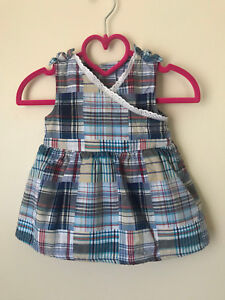 Faded Glory 6-9 Months Baby Girl Patchwork Bodysuit Summer Dress Clothes Baby & Toddler Clothing