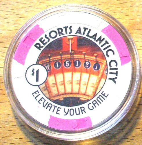 New Jersey ATLANTIC CITY $1 Resorts CASINO CHIP