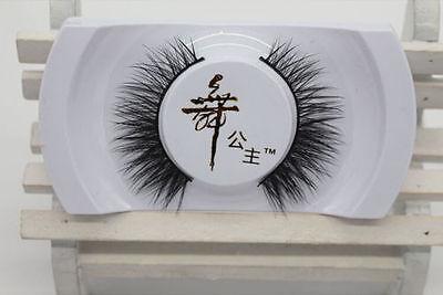 Hot Black Luxurious 100% Real Mink Long Natural Thick Eye Lashes False Eyelashes