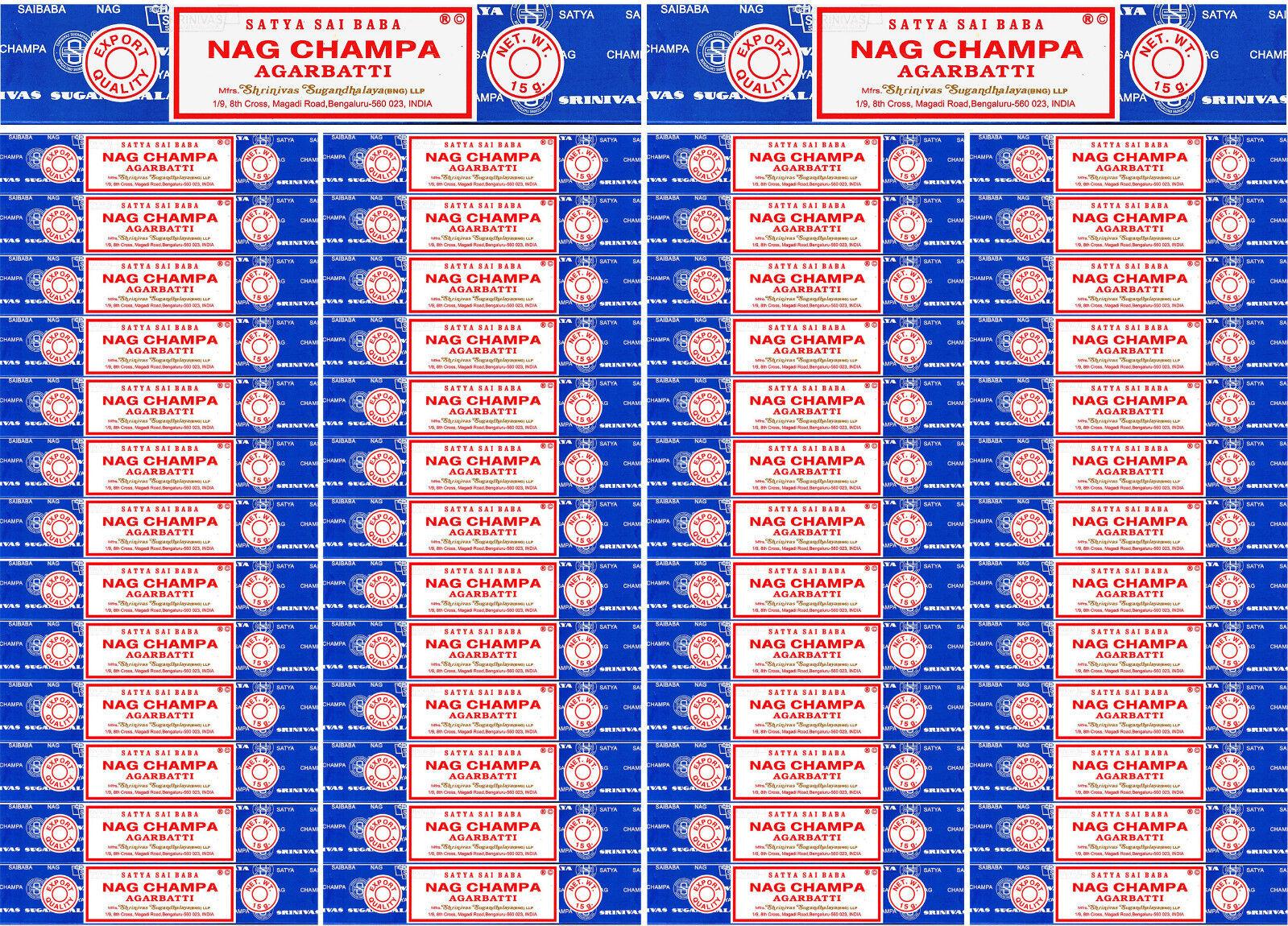 54 Boxes 15 Grams Each Nag Champa Incense Satya Sai Baba 2018 Series 810 Gram