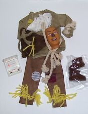 """1/6 SCALE 12"""" MALE FASHION DOLL WIZARD OF OZ SCARECROW COSTUME WITH MASK"""